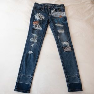 American Eagle Hi-Rise Punk Rock Jegging - 6